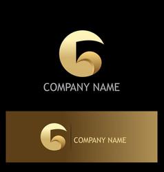 gold letter g logo vector image