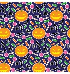 Halloween seamless pattern 3 vector image