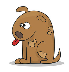 happy cartoon puppy sitting cute little dog vector image