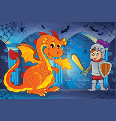 Haunted castle interior theme 5 vector
