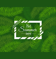 hot summer days poster with text in square frame vector image