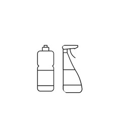household chemical bottles sign vector image