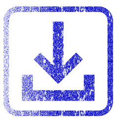 Inbox framed textured icon vector