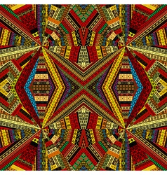 Kaleidoscope made of ethnic patchwork fabric vector