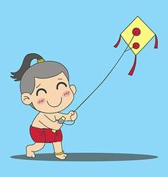 Kite Boy vector