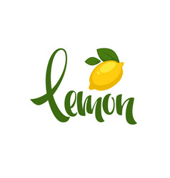 Lemon lettering composition for your citrus juice vector