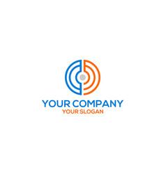 letter circle cm logo design vector image