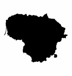 lithuania silhouette map vector image