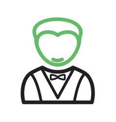 Man as waiter vector