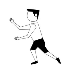 Man moving fitness avatar icon image vector