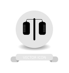 Medical drip icon vector