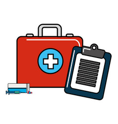 Medical kit design vector