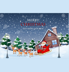 Merry christmas and new year template vector