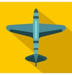 Military fighter jet icon flat style vector image