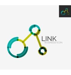 Minimal line design logo connection icon vector