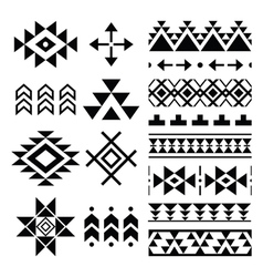 Navajo print aztec pattern tribal design element vector