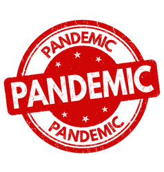 Pandemic sign or stamp vector
