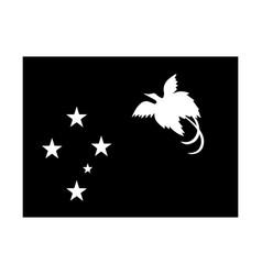 Papua new guinea flag black and white country vector