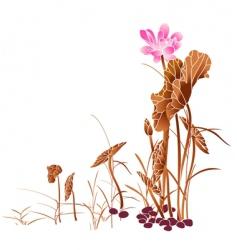 Pink lotus vector