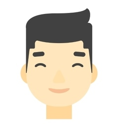Pleased man with his eyes closed vector