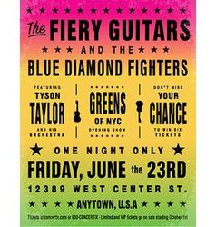 Rainbow concert poster vector