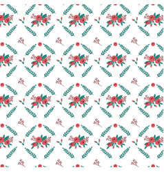roses and wreath pattern vector image
