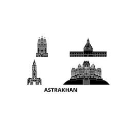 russia astrakhan flat travel skyline set russia vector image