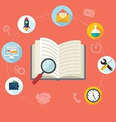Search SEO concept Flat concept education vector