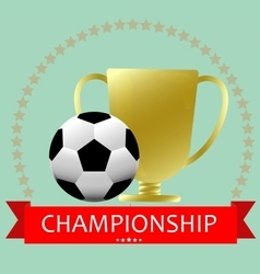 Soccer football medal cup vector