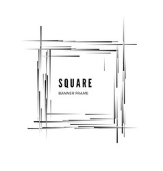 square abstract modern geometric banner isolated vector image