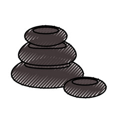 stones pile spa icon vector image