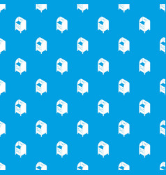 Street postbox pattern seamless blue vector