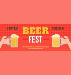 Stylish web oktoberfest banner vector