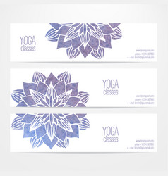 templates of banners with watercolor blue vector image