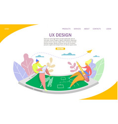 Ux design website landing page design vector
