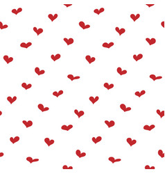 valentines day background simple hearts seamless vector image