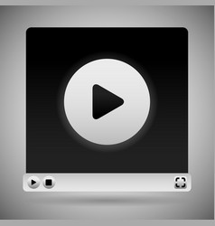 Video player template white color scheme vector