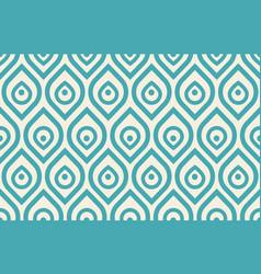 vintage peacock pattern vector image