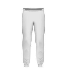 White pants front vector