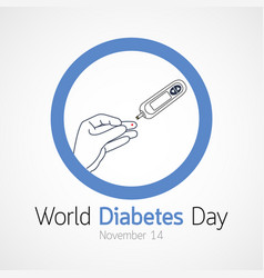 World diabetes day icon vector