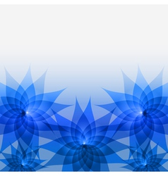 Abstract floral background with blue flowers vector image vector image