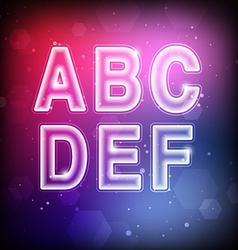 Abstract Font A-F vector image vector image
