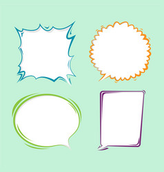 bubble speech border cartoon set vector image vector image