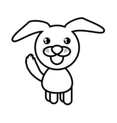 cartoon dog animal outline vector image