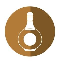 cognac bottle alcochol drink style shadow vector image