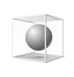 Four transparent gray glass cubes eps10 vector image