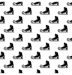 Ice skate pattern seamless vector image vector image