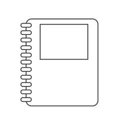 wired notebook icon vector image