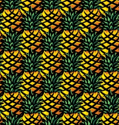 ananas background vector image