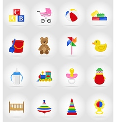 baby flat icons 17 vector image vector image